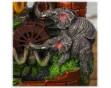 """Настольный декоративный фонтан """"Слоны у ручья"""" с подсветкой"""