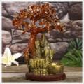 """Бонсай-фонтан """"Золотая гора"""" (дерево счастья из камней и декоративный настольный фонтан с подсветкой)"""