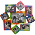 """Фоторамка """"Краски жизни"""" (разноцветная мультирамка-коллаж для 9 фотографий)"""