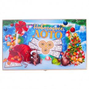 """Русское лото """"Новогоднее"""" в подарочной деревянной шкатулке"""