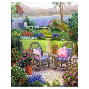 """Картина-раскраска по номерам """"Летний сад"""" 40*50 см на холсте"""