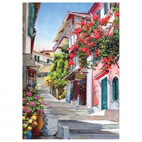 """Картина-раскраска по номерам """"Лето в Греции"""" 40*50 см на холсте"""
