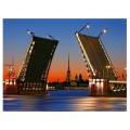 """40*50 см """"Мост"""" картина-раскраска по номерам на холсте"""