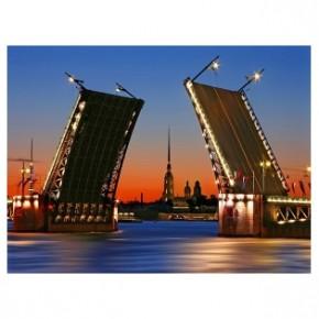 """Картина-раскраска по номерам """"Мост"""" 40*50 см на холсте"""