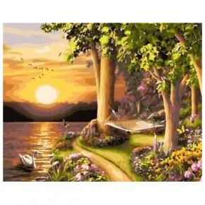 "Картина-раскраска по номерам ""Нежный закат"" 40*50 см на холсте"