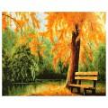 """40*50 см """"Осень золотая """" картина-раскраска по номерам на холсте"""