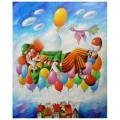"""""""Сон в небе"""" 40*50 см картина-раскраска по номерам на холсте"""