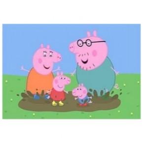 """Картина-раскраска по номерам """"Свинка Пеппа"""" 40*50 см на холсте"""