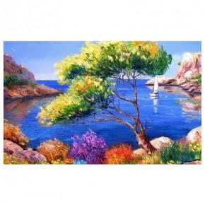 "Картина-раскраска по номерам ""У синего моря"" 40*50 см на холсте"