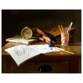 """Картина-раскраска по номерам """"Уроки"""" 40*50 см на холсте"""