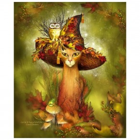 """Картина-раскраска по номерам """"Волшебный лес"""" 40*50 см на холсте"""