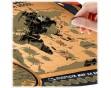 """Стирающаяся карта гастрономических путешествий """"Мир на вкус"""""""