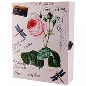 """Настенная ключница """"Цветок розы"""""""