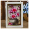 """Ключница 3D """"Цветы в вазе"""" настенная с объёмным рисунком"""