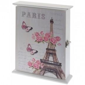 """Настенная ключница """"Весна в Париже"""""""
