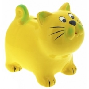"""Копилка """"Котик"""" жёлтый"""