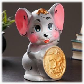 """Копилка """"Мышка с монетой"""""""
