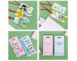 """Подарочный набор """"Для улыбок"""": ежедневник, бумага для записей, две авторучки, закладки-флажки, бумажный блок"""
