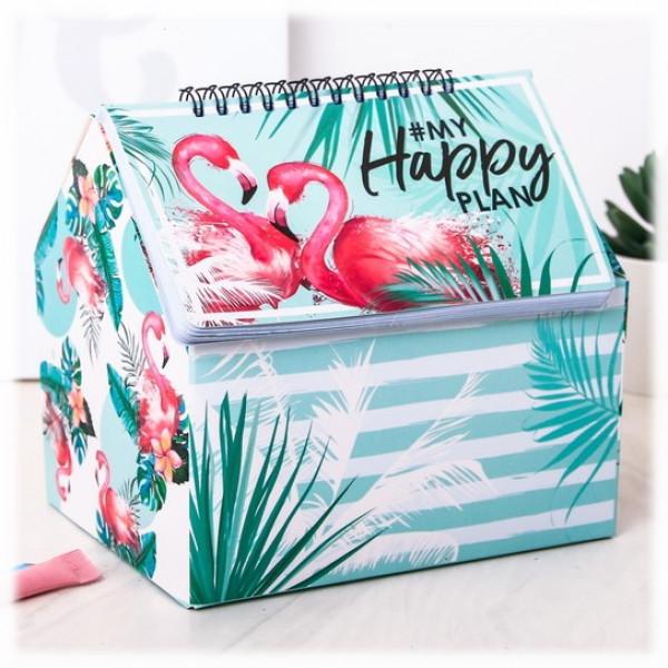 """Планер """"Фламинго"""" подарочный со шкатулкой от 280 руб"""