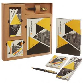 """Подарочный набор """"Геометрия"""": ежедневник, блокнот, бумага, ручка"""