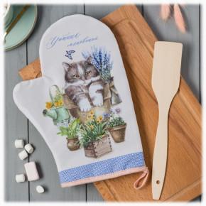 """Подарочный набор """"Моей бабушке"""": варежка-прихватка + лопатка"""