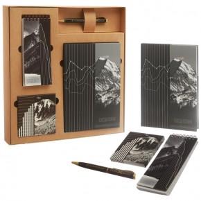 """Подарочный набор """"Горы"""": ежедневник, блокнот, бумага, ручка"""