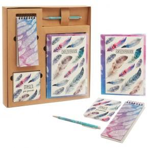 """Подарочный набор """"Лёгкость"""": ежедневник, блокнот, бумага, ручка"""