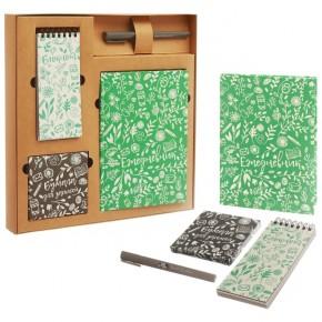 """Подарочный набор """"Летний день"""": ежедневник, блокнот, бумага, ручка"""