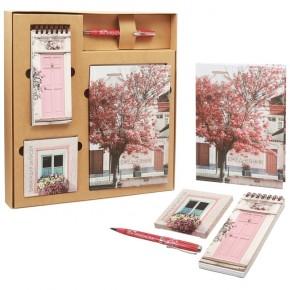 """Подарочный набор """"Природа"""": ежедневник, блокнот, бумага, ручка"""