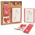 """Набор """"Сердце"""" подарочный (ежедневник, блокнот, бумага для записей, авторучка)"""