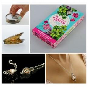 """Подарочный набор """"Жемчужина удачи"""": жемчужина, кулон, цепочка"""