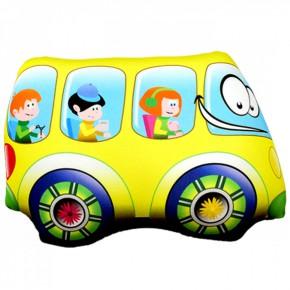 """Подушка-игрушка антистресс """"Автобус"""" жёлтый"""