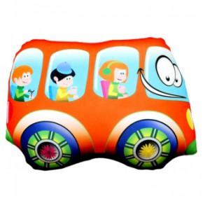 """Подушка-игрушка антистресс """"Автобус"""" оранжевый"""