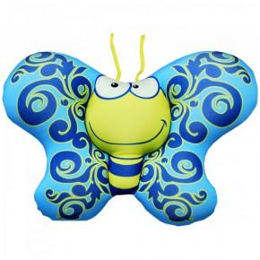 """Подушка-игрушка антистресс """"Бабочка"""" голубая"""