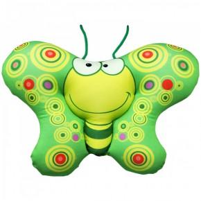 "Подушка-игрушка антистресс ""Бабочка"" зеленая"
