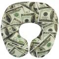 """Подушка под шею """"Доллары"""" антистресс (дорожная подушка-подголовник для путешествий)"""