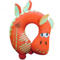 """Подушка под шею """"Дракоша"""" оранжевый антистресс (дорожная подушка-подголовник для путешествий)"""