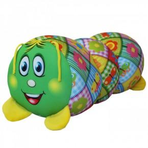 """Подушка-игрушка антистресс """"Гусеница"""" зелёная"""