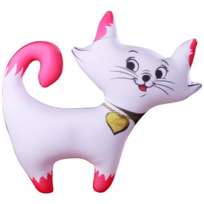 """Подушка-игрушка антистресс """"Кошечка"""" белая"""