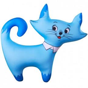 """Подушка-игрушка антистресс """"Кошечка"""" голубая"""
