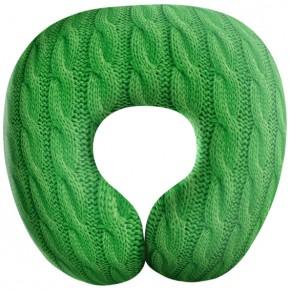 """Подушка антистресс под шею """"Косички"""" зеленая"""
