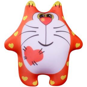 "Подушка-игрушка антистресс ""Кот сердечный"""