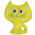 """Игрушка """"Котёнок"""" жёлтый (подушка антистресс)"""