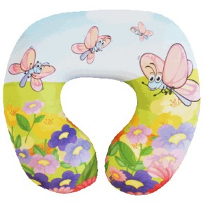 """Детская подушка-подголовник для путешествий """"Летний день"""""""