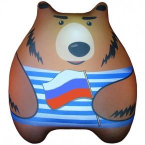 """Подушка-игрушка антистресс """"Мишаня"""" полосатый"""