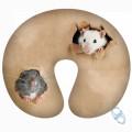 """Подушка под шею """"Мышки"""" антистресс (дорожная подушка-подголовник с карабином для путешествий)"""