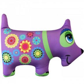 """Подушка-игрушка антистресс """"Собака"""" фиолетовая"""