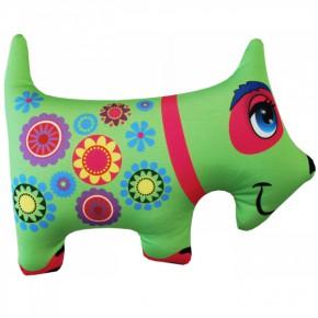 """Подушка-игрушка антистресс """"Собака"""" зеленая"""