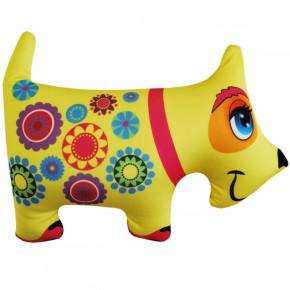 "Подушка-игрушка антистресс ""Собака"" желтая"