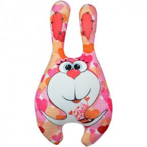 "Подушка-игрушка антистресс ""Заяц Моня"" розовый"
